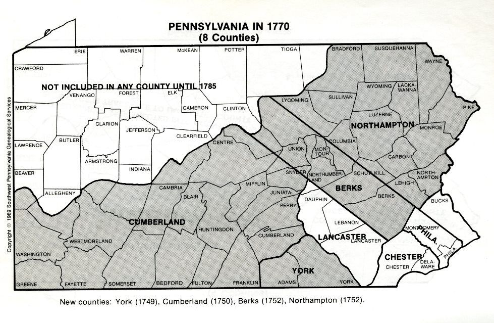 The Creation Of Cumberland County Pennsylvania Elizabeth V And - Pa map of counties