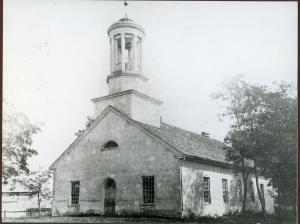Photo of the Big Spring Presbyterian Church circa 1880