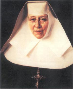 Prayer card for Saint Katharine Drexel with picture on front and prayer on back