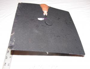 Image of a mortorboard worn at graduation at Irving College, Mechanicsburg with a pink tassel