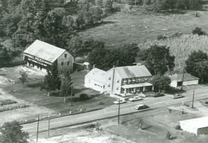Arial view of the Sign of the Grand Turk tavern along the Ritner Highway.