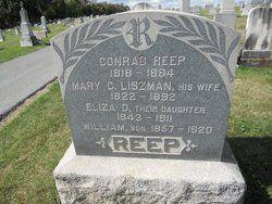 Photo of the grave marker of the Reep family in the Mount Holly Springs cemetery