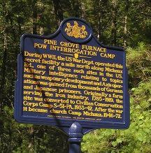 Photo of the Historical Marker at Pine Grove Furnace