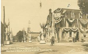 Photo of the Union Firehouse in 1909