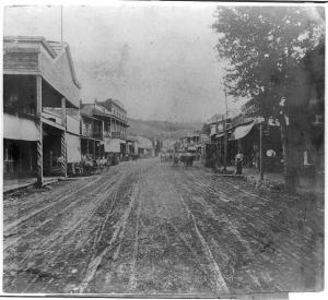 Image of Main Street, Placerville, El Dorado County from the Library of Congress
